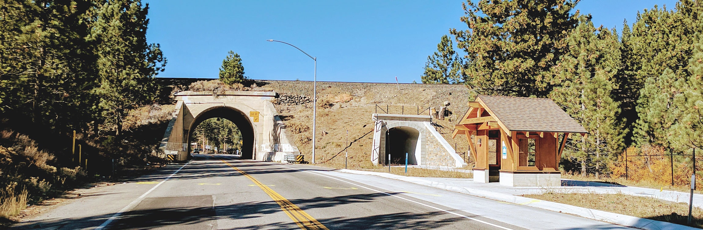 truckee_tahoe_state_route_89_uprr_underpass_mousehole_monitoring_hdr_engineering_gordon_n_ball_caltrans_right_of_way_union_pacific_railroad_tunnel_survey_project_sage_land_surveying